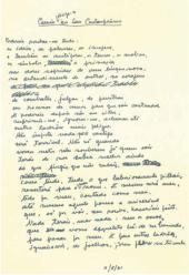 """Manuscrito de """"Camões dirige-se aos seus contemporâneos"""""""
