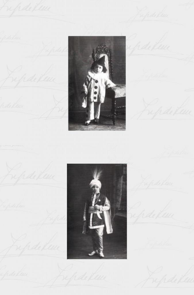 Jorge de Sena fantasiado, pronto para brincar o carnaval, em 002e 1930.