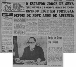 """De volta a Portugal: matéria do """"Diário de Lisboa"""", 23/12/1968"""