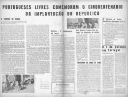 Jorge de Sena: Na comemoração paulistana do cinquentenário da implantação da República Portuguesa