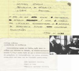 25 de Abril: dois poemas e dois telegramas