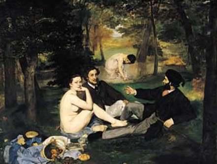 Fig. 3 – Desjejum sobre a relva, de Édouard Manet.