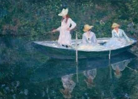 Fig. 2 – O barco em Giverny, de Claude Monet.