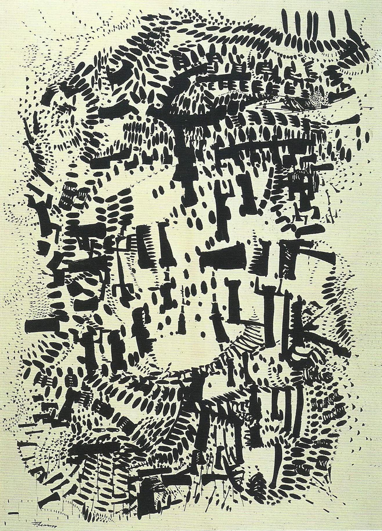 """Fernando Lemos, """"Desenho"""", 1954 (Acervo do MAC/USP)"""